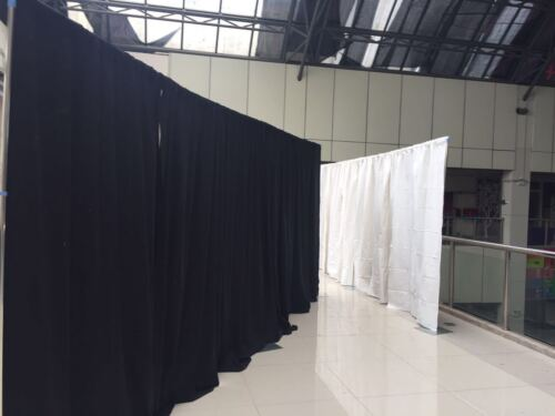 50 FT WIDE PIPE WITHOUT DRAPE ADJUSTABLE QUICK BACKDROP KIT 10 FT TALL x 20 FT