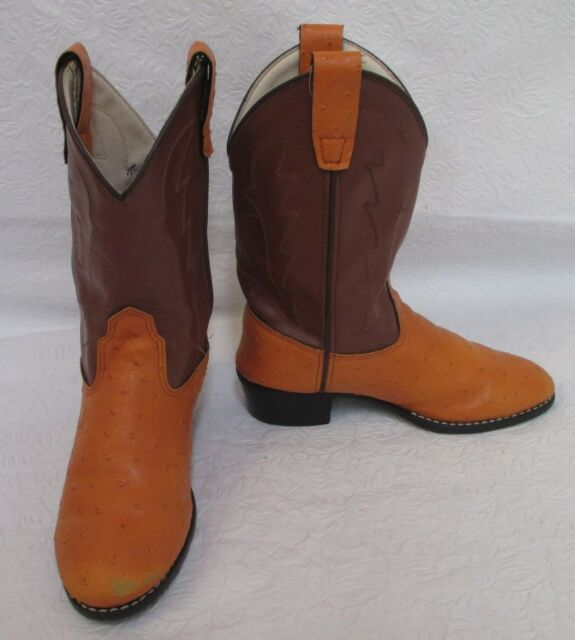 Old West Jama Corporation Boys Kid s Caramel Cowboy Boots