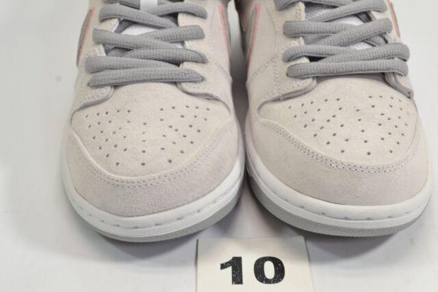 super popular 3a7ac 992bc Nike SB Dunk Low Pro Ishod Wair Sz 10.0 White Pink Silver 895969 160 ...
