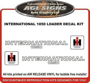 Details about INTERNATIONAL 1850 LOADER DECAL SET , reprocduction