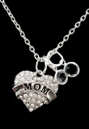 Birthstone Necklace Mom Gift For Mother/'s Day Mother Personalized Jewelry