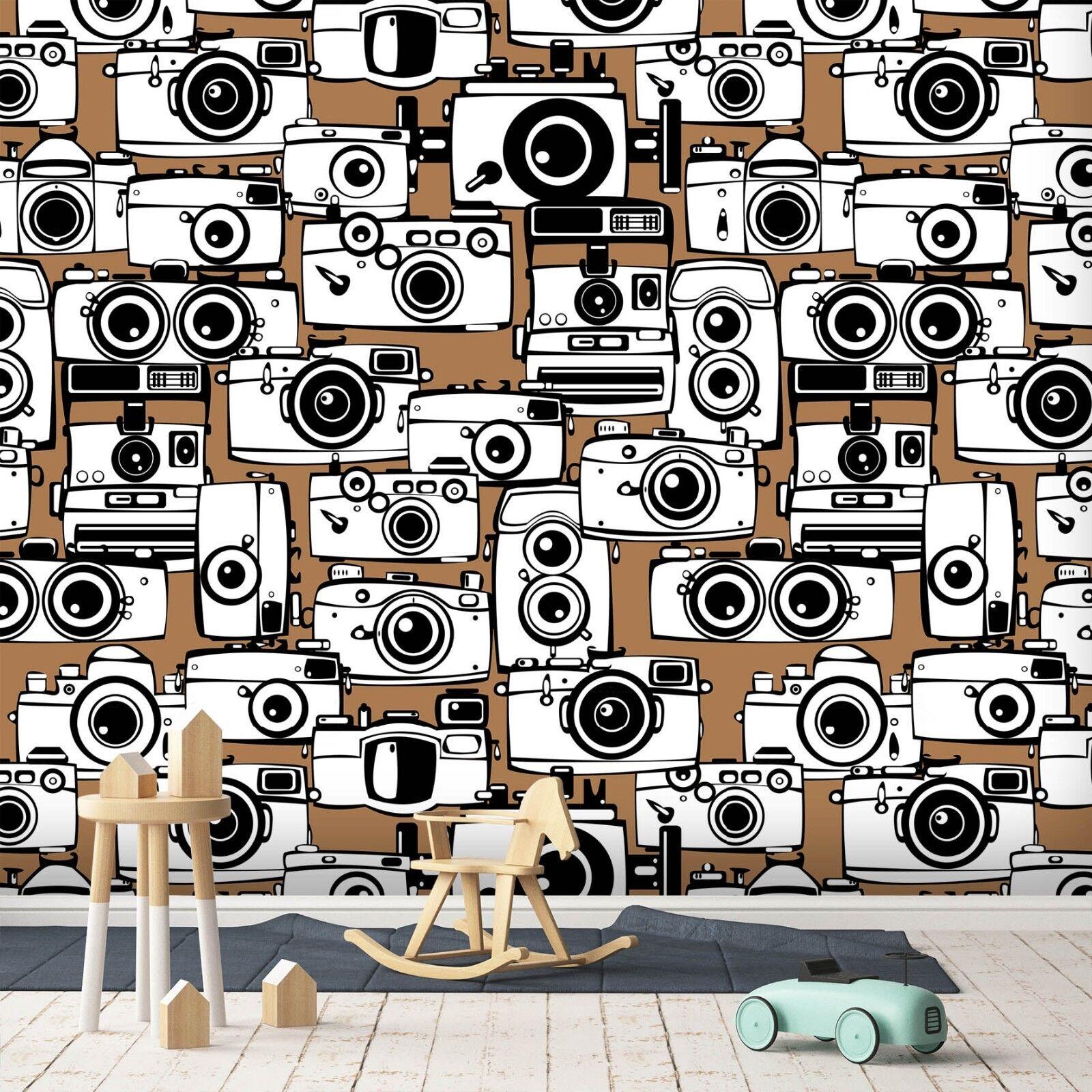 3D Braun Camera 7111 Wall Paper Murals Wall Print Wall Wallpaper Mural AU Summer