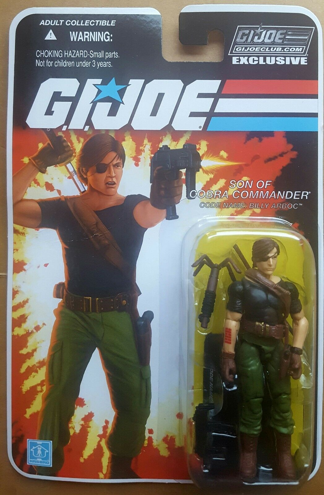 GI Joe Collectors' Club Subscription FSS BILLY son of Cobra Commander MOC MOSC