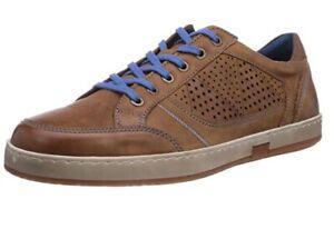 Josef-Seibel-039-Gatteo-039-Sz-41-Mens-8-5-9-Low-Top-Sneaker-Shoe-Brown-Leather-Shoes