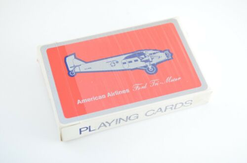 American Airlines Playing Cards Ford Tri Motor Vintage Complete Deck