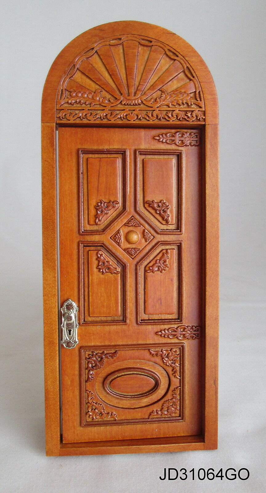 JBM Miniatures JD31064WN - Victorian Carved Door - Maple - 1:12 Scale FREE SHIP