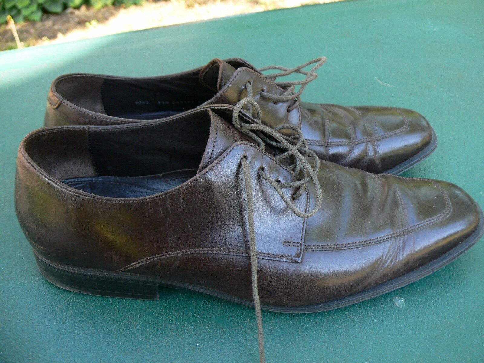 Men's Cole Haan Leather Lace Up Oxford Dress shoes, Brown Size 11M