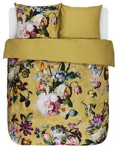 Essenza Bettwäsche Fleur Yellow 135 155 200 Baumwolle Satin Blumen