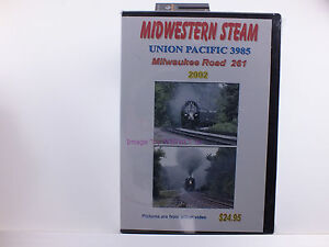 New-Sealed-RailRoad-DVD-Midwestern-Steam-UP-3985-Milwaukee-by-Roger-A-Holmes