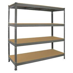 Garage-Racking-Heavy-Duty-Shelving-4-Tier-Unit-Boltless-Steel-Bay-Metal-Shelves