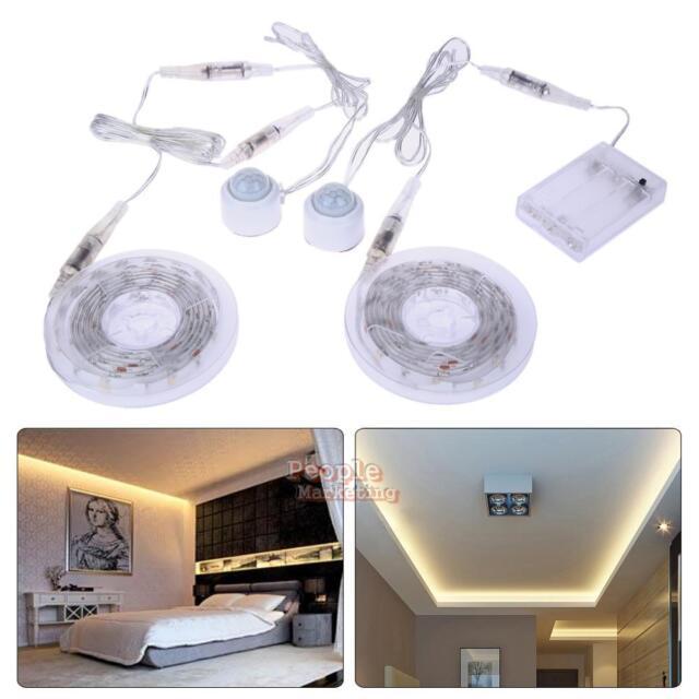 LED Flexible Strip Night Light Sensor Automatic Living Room Bedroom Ceiling Lamp