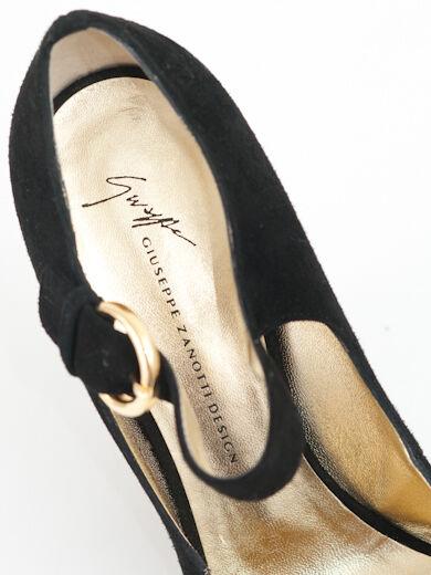 Neu Zanotti Schwarz Wildleder Schuhe Größe Größe Größe 40 c47ebc