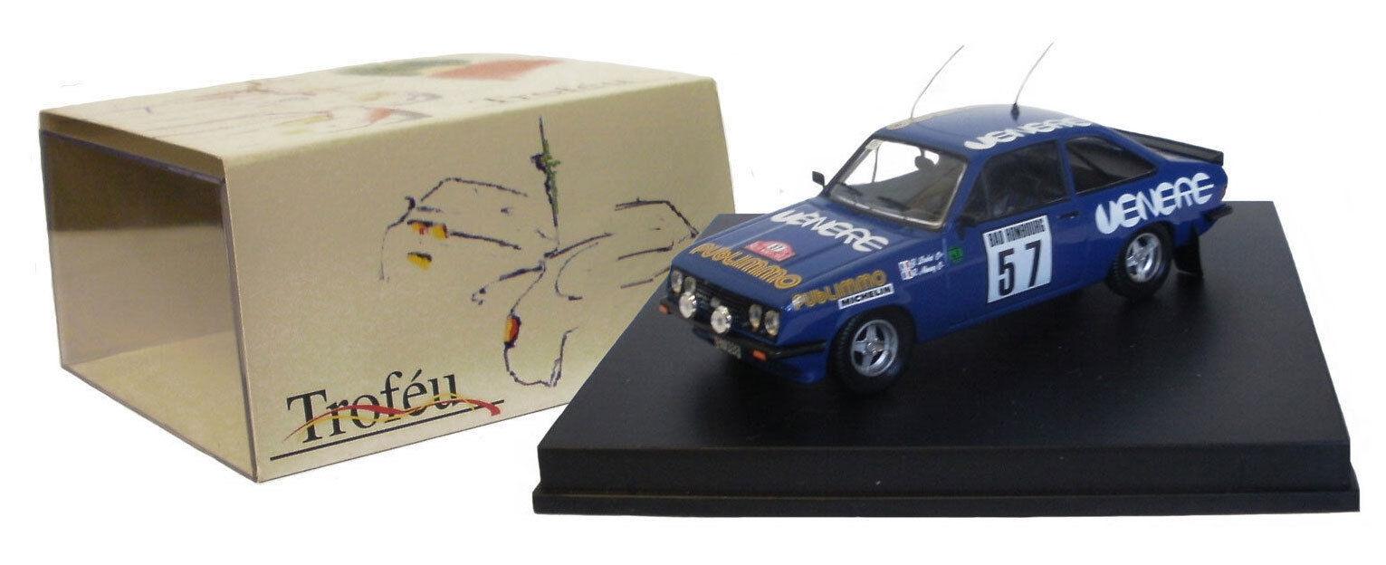 Trofeu 1811 FORD ESCORT RS 2000 RALLYE DE MONTE CARLO 1981-y Loubet, échelle 1 43,