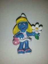 Smurfs Flower Purse Smurfette Smurf Rare Vintage Original Peyo Lot Toy Figure