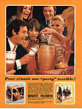 """PUBLICITE  1969   PELFORTH    bière  """" PARTY """" terrible  minifut"""