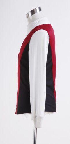 Star Trek Movie Cosplay Costume Kirk Ribbed Shirt and Red Black Vest Custom Made