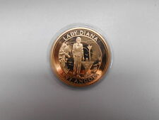 Diana 1997 Angola Queen of Hearts Münze Medaille 35 mm 22 g vergoldet