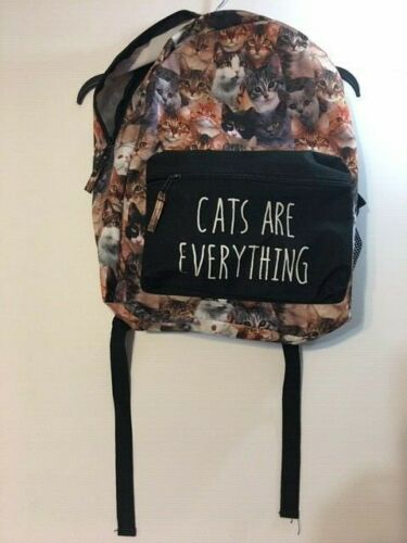 CATS ARE EVERYTHING Backpack School Laptop Bag Ca… - image 1
