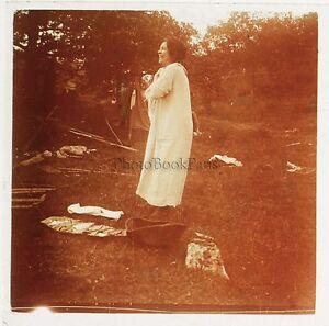 Foto-Amateur-Francia-Placca-Da-Lente-Stereo-Positivo-Vintage-Verso-1925