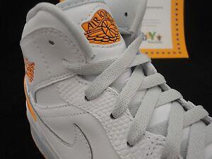 Nike Air Jordan 1 Retro '86 White / Kumquat / Pure Platinum 644490 115 Sz 13
