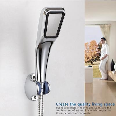 Rostfreier Stahl Handbrause Badezimmer Druck Wasserspar Duschkopf Handdusche RR
