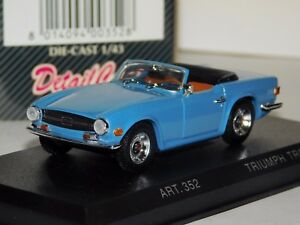 Image Is Loading TRIUMPH TR6 1969 SPIDER LIGHT BLUE CABRIO DETAIL