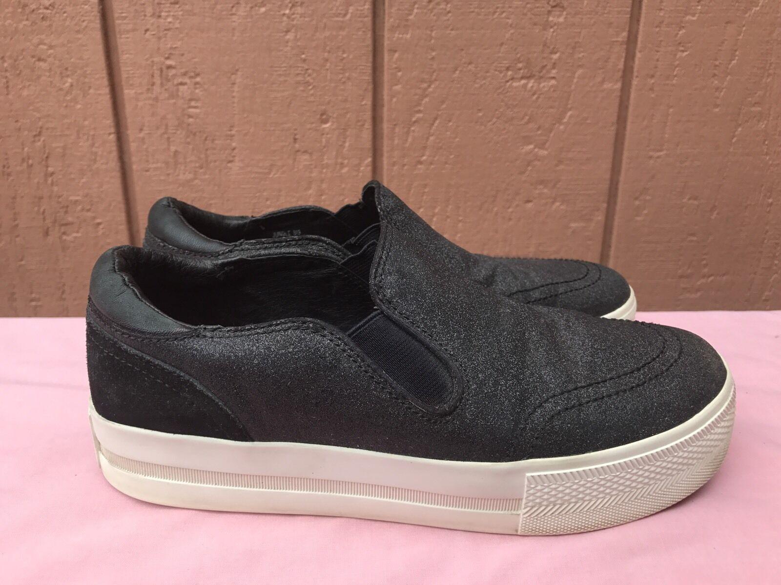 EUC Ash Black Jungle Slip On Platform Sneakers US 7.5