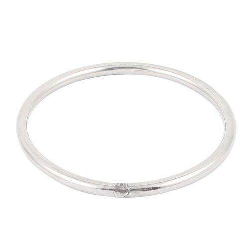 2X M6x100mm 304 Stainless Steel Welded Round Ring Silver Tone I9C3