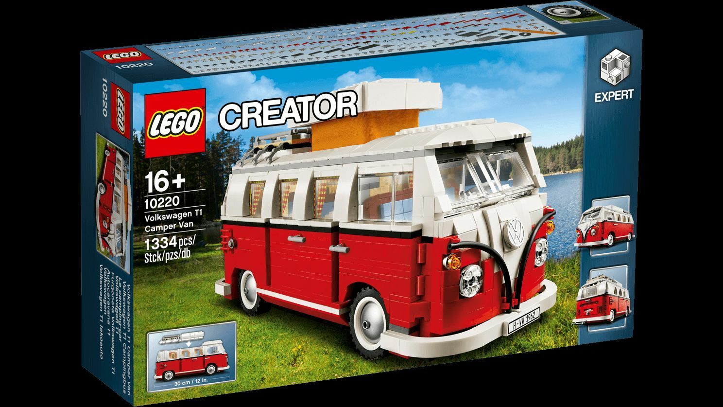 LEGO CREATOR 10220 VW VOLKSWAGEN T1 CAMPER VAN BULLI ROT / Weiß VERY RARE BNMIB