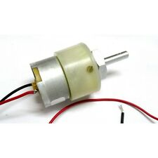 12V DC 200RPM Gearhead Motor with wire ready to use - Center Shaft Geared Motors