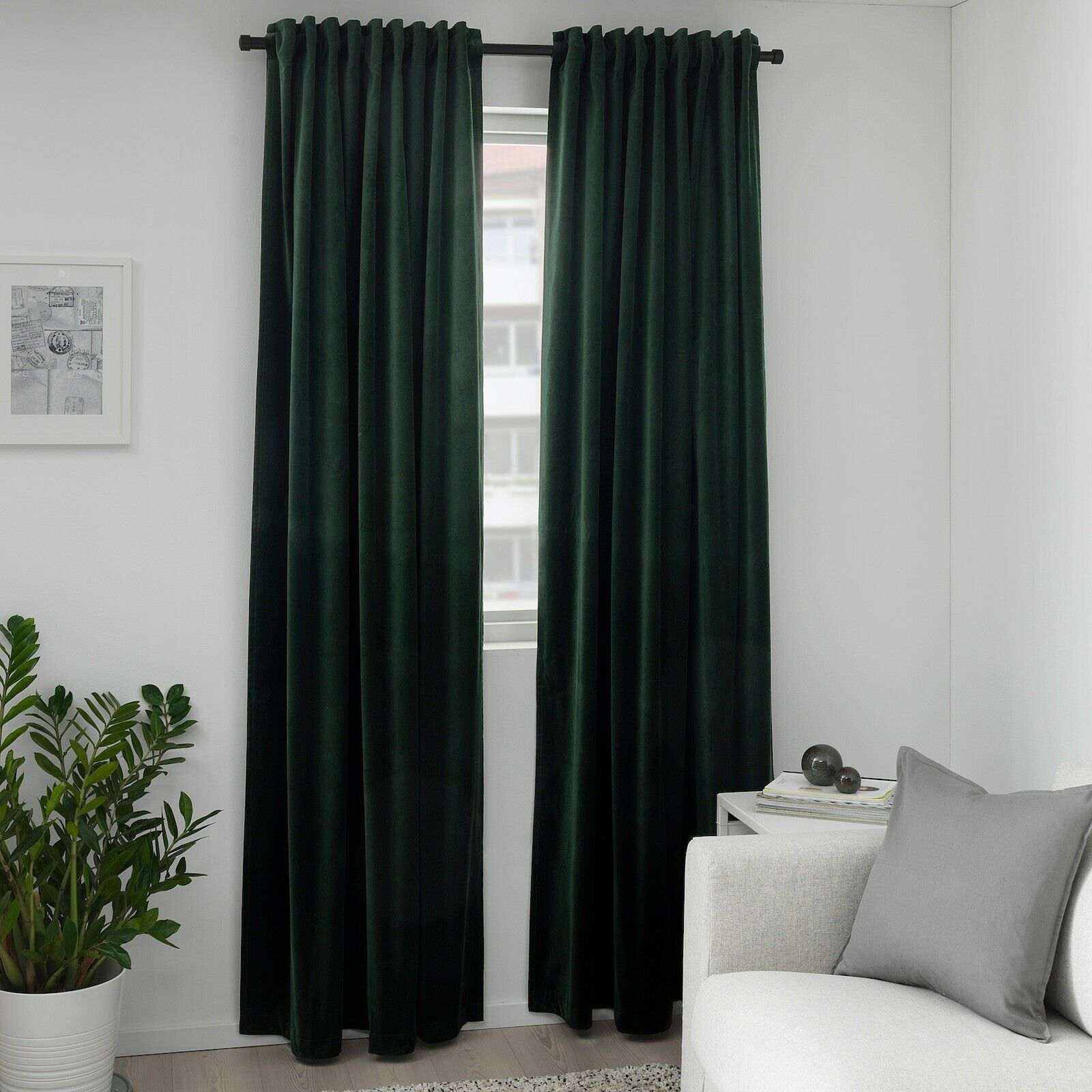 Room Darkening Curtains Bedroom Panels 95 Inches Length Waffle Weave Privacy 2 For Sale Online Ebay