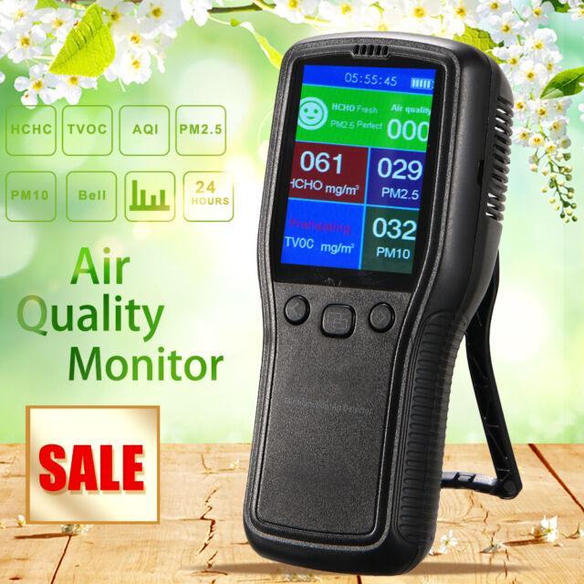Air Quality Monitor for PM10 PM2.5 Formaldehyde HCHO TVOC LCD Digital Detector