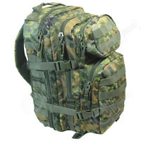 Flecktarn Camo Molle Rucksack Assault Small 20l Backpack Tactical Army Day Pack