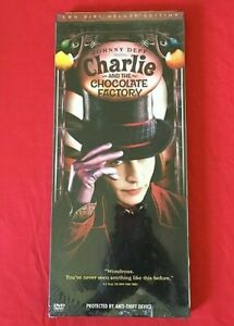 CHARLIE AND THE CHOCOLATE FACTORY DVD SEALED Long Box 2 Disc TIM BURTON theatric