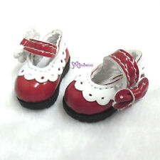 16cm Lati Yellow Basic Doll Bjd Dollfie Mary Jane Strapped Shoes Red