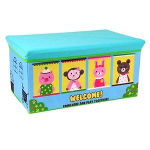 spielzeugkiste mit deckel aufbewahrungsbox kinderbank spielkiste faltbare box ebay. Black Bedroom Furniture Sets. Home Design Ideas