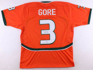 low cost 6ada8 381ca Details about Frank Gore Signed Miami Hurricane Jersey (PSA) 5× Pro Bowl  (2006,2009,2011–2013)
