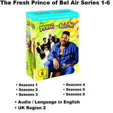 The Fresh Prince of Bel Air Series 1-6 Seasons 1 2 3 4 5 6 DVD BoxSet Will Smith