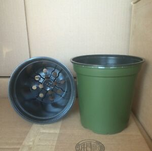 "1 Gallon Trade Plastic Nursery 6"" X 6"" Flower Pots 5 10 25 50 100 150 250 500 Excellente Qualité"