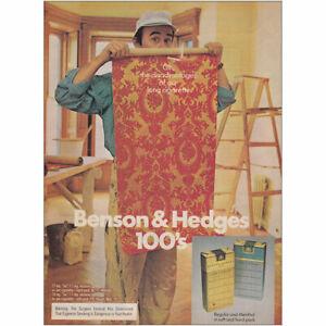 1976 Benson Hedges Cigarettes Disadvantages Of Our Long Vintage Print Ad Ebay