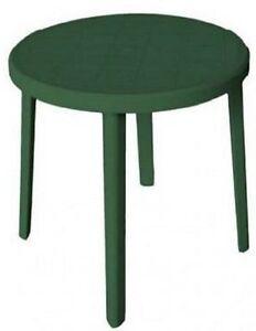 Tavolo Rotondo Per Esterno.Tavolo Rotondo Tavolino Da Esterno Per Giardino In Resina 90 Cm Gt