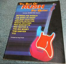The Best Of RUSH For Guitar w/ Super Tablature Notation Music Song Book 10 Songs