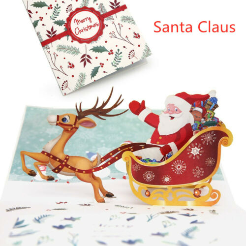 Hot Cards 3D Pop Up Card  Birthday Merry Christmas Tree Kids Gift Greeting 2019