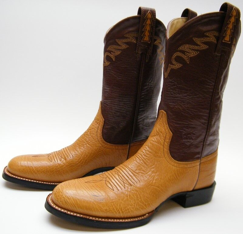 WOMENS ARIAT 17181 BROWN LEATHER ROPER COWBOY WESTERN WORK BOOTS SZ 6.51 2 B