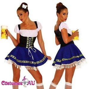 Ladies-Beer-Maid-Costume-Wench-German-Heidi-Oktoberfest-Gretchen-Fancy-Dress