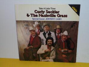 e196516ee1 LP - CURLY SECKLER & THE NASHVILLE GRASS - TAKE A LITTLE TIME - JOHNNY CASH