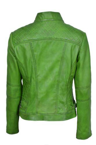 da Style Giacca lusso in Green Nappa di Biker Design Real donna pelle Italian rdPExXE