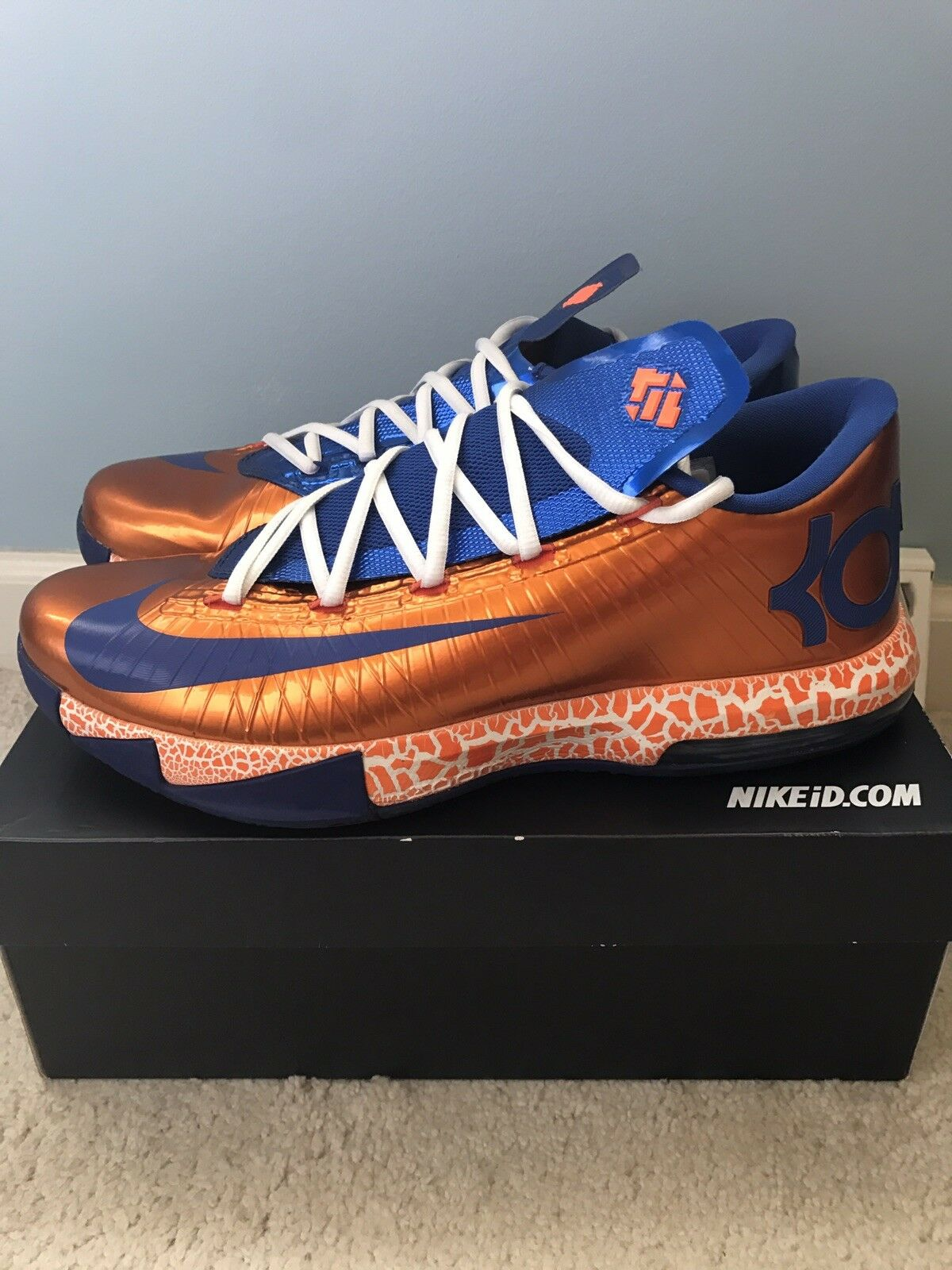 KD 6 Nike ID Size 11.5 Made By Nfl Player
