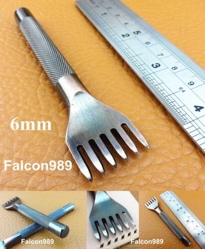 5kind 4mm Leathercraft Diamond LacingChiselPrick Iron Punch Tool 1//2//4//6Prong
