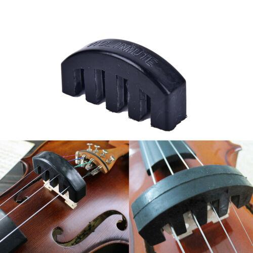 Violine Praxis Stumm Schwerer schwarzer Gummi Violin Silencer Acoustic Electric